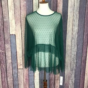 New With Tag Massini Sheer Mesh Blouse 3X